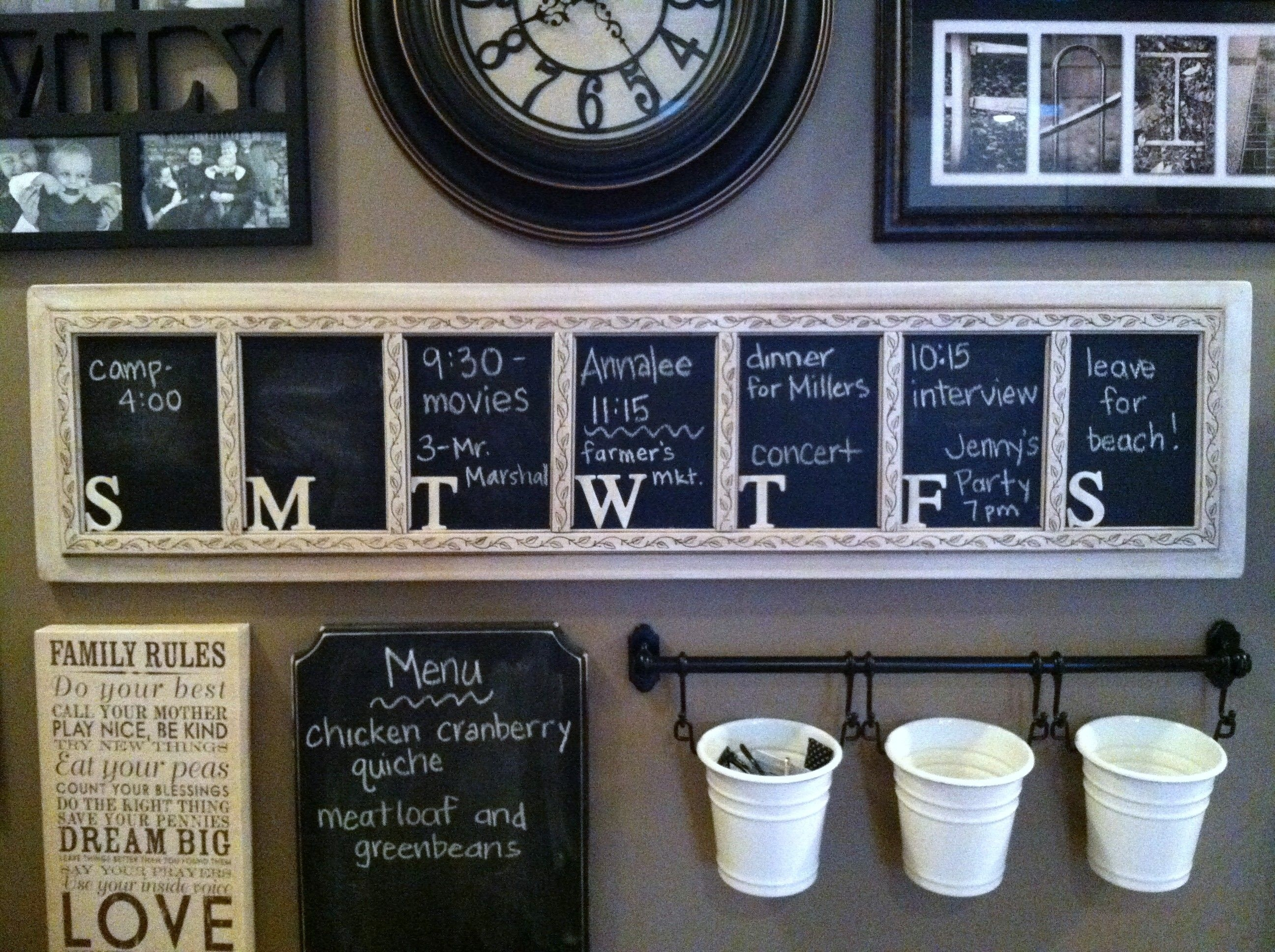 Weekly Chalkboard Calendar/ Planner. Cut The Board To Size, Sand_Blank Calendar Hobby Lobby