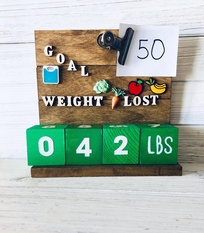Weight Loss Goal Setter Countdown Calendar - Motivation Tracker_Countdown Calendar For Weight Loss