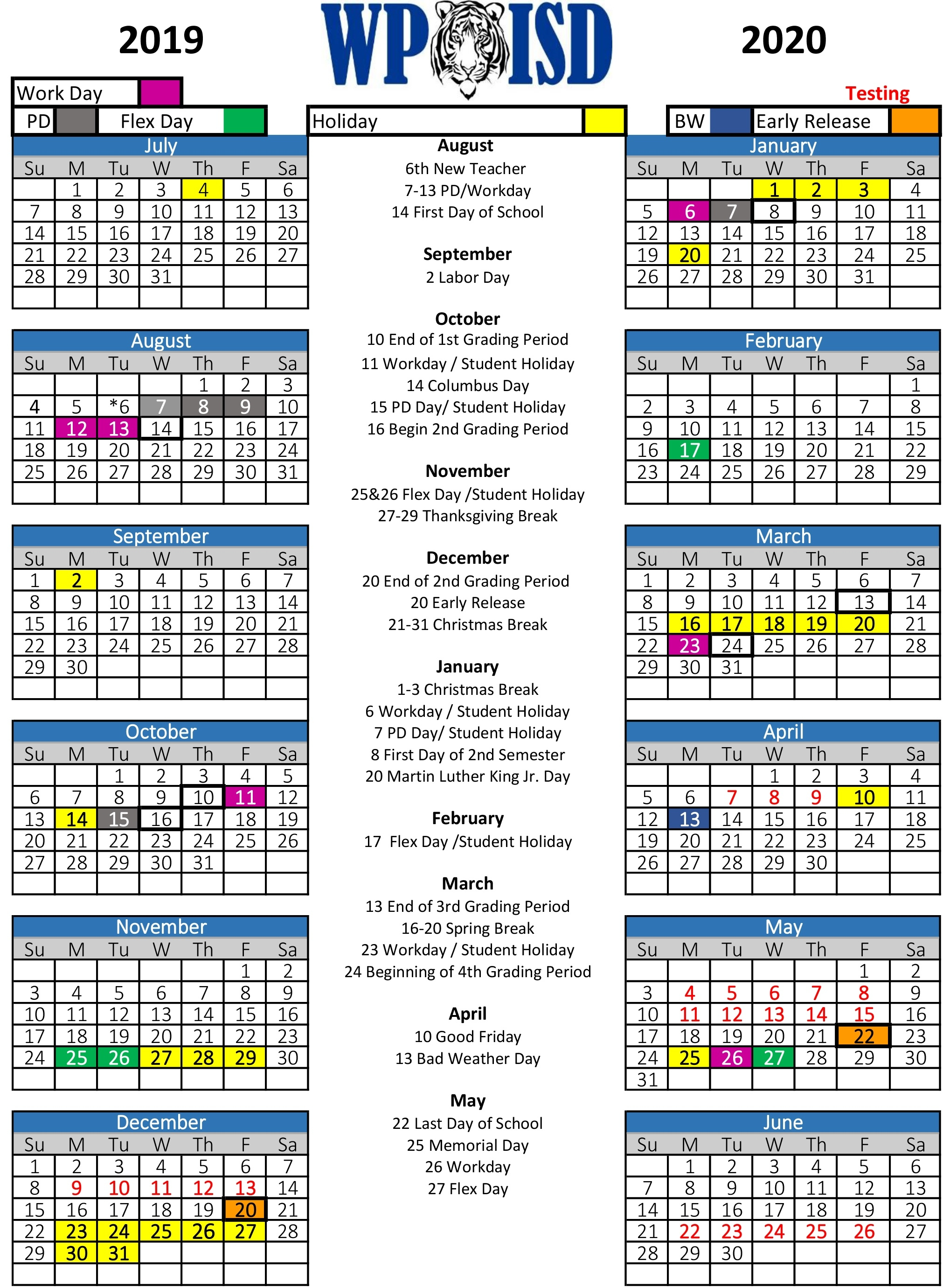 Wills Point Isd / Homepage_T H Rogers School Calendar