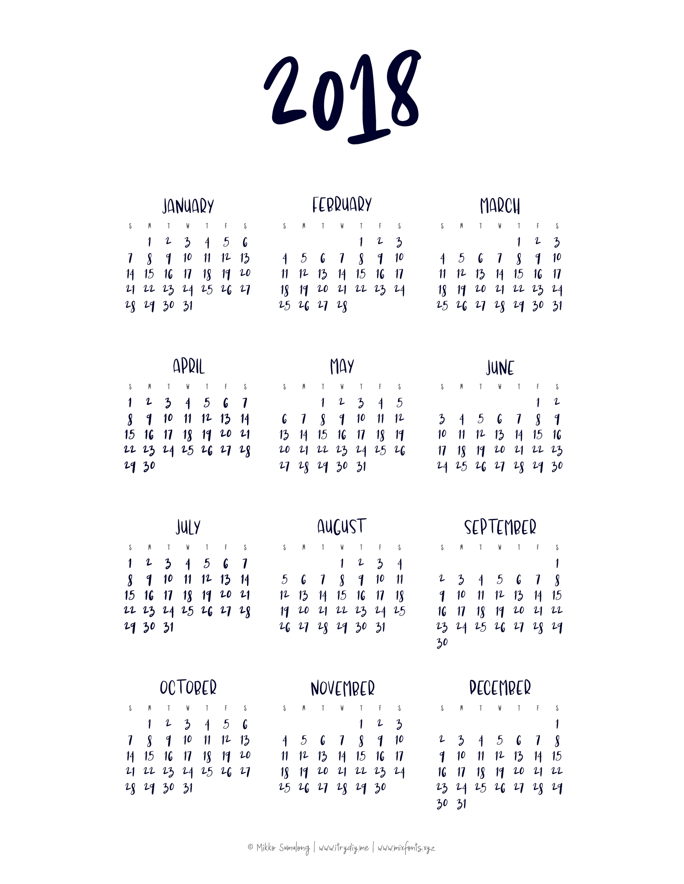 Year At A Glance Calendar  </p>   </div>        <br>     <div class=