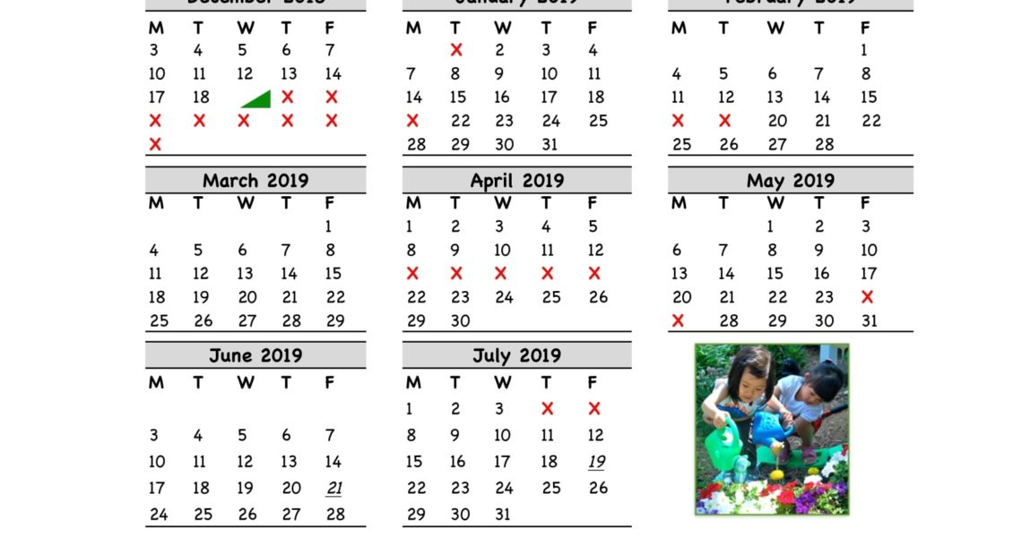 Yearly Calendar - The Green House Preschool And Kindergarten In Fort_Sad 4 School Calendar