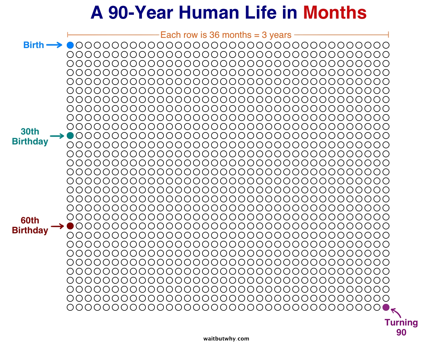 Your Life In Weeks — Wait But Why_Countdown Calendar In Months Weeks And Days