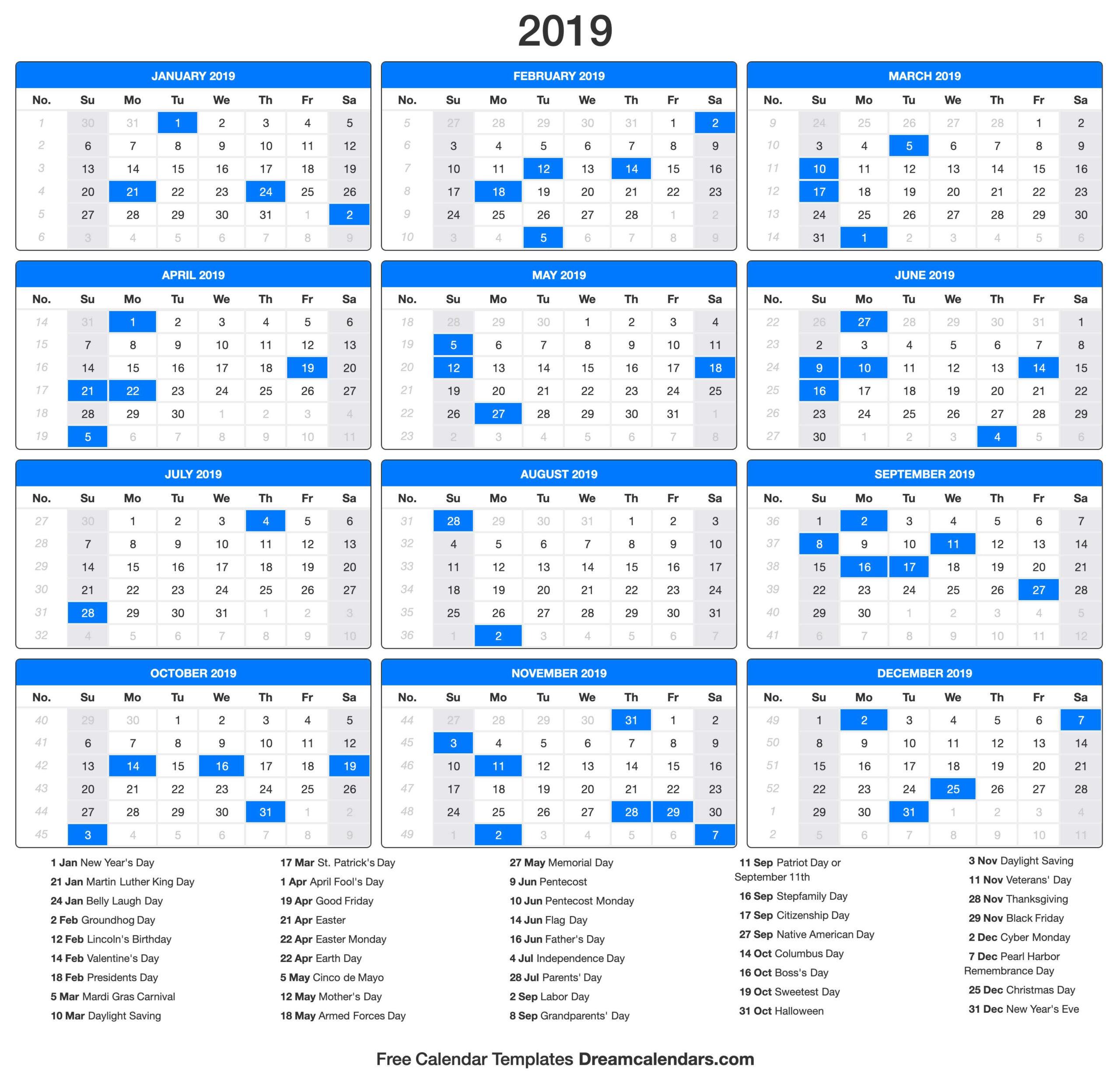 2019 Calendar_2019 Calendar Printing Johannesburg