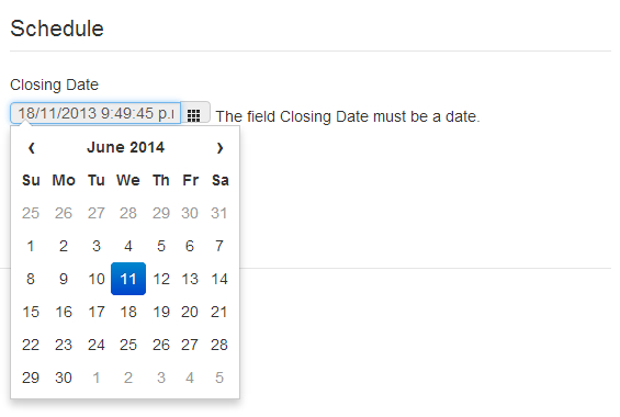 Jquery - Bootstrap Date Picker Is Months Out - Stack Overflow_Bootstrap 4 Datepicker Calendar Icon