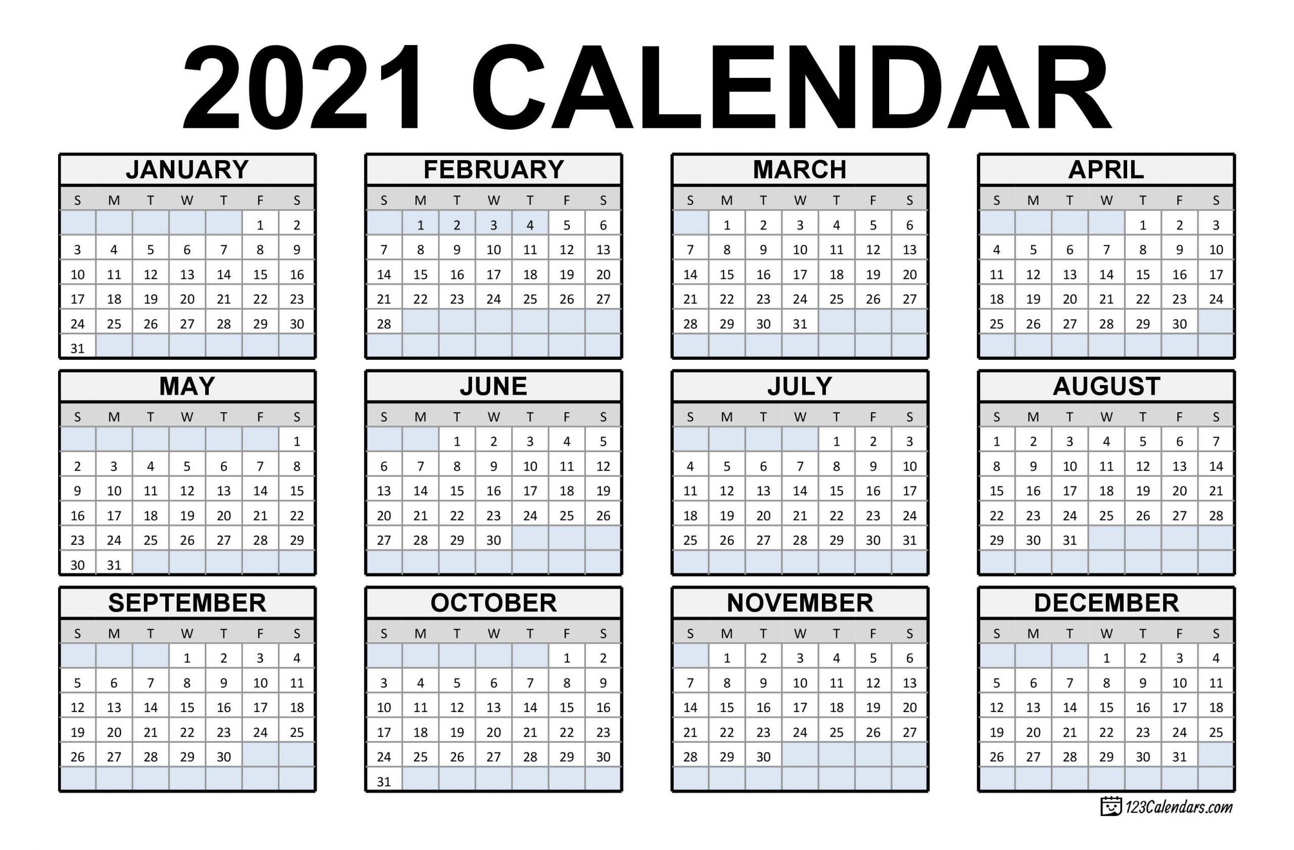Calendar Of Weekends Only 2021 | Month Calendar Printable_Bulk Calendar Printing Us